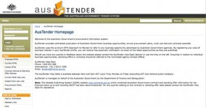 Australian Federal Government Tendering Site